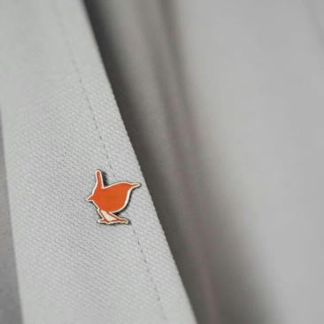 Wren pin lapel